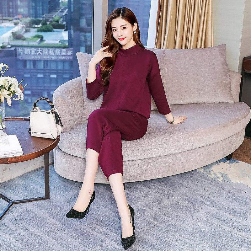 Stand Collar Set/Suit Skirt 2019 Autumn Elegant Fashion Elegant Versatile Waist Hugging Solid Color