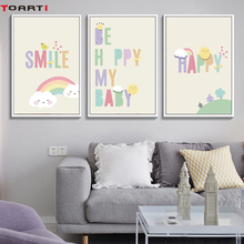 Cartoon Prints Posters Colorful Letters Canvas Painting On The Wall Motivational Kids Quote Art Decorative Pictures For Bedroom