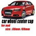 4 шт./компл.  60 мм/69 мм  черный и серый цвет  автомобильные эмблемы  диски  колпачки для ступицы колеса  автомобильные колпачки для Audi A1 A2 A3 A4 A5 A6 ...