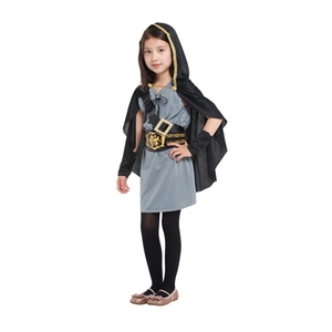 Image 3 - Child Kids Hooded Archer Huntress Costume for Girls Medieval Warrior Knight Costumes Fancy Dress Halloween Purim Carnival Party