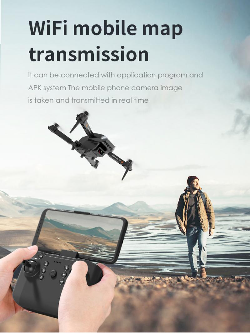Hc7d8c48f569d45549eb1b92c88f6c5231 - L703 Folding Drone 4K HD Aerial Photography Cameras WIFI FPV Aerial Photography Helicopter Foldable Quadcopter Drone Toys