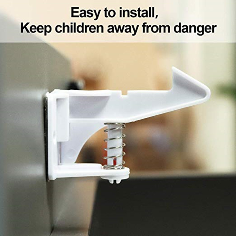 12pcs  Baby Safety Cabinet Locks - Anti-Pinch Hands Protect Child Safety With 3M Adhesive For Drawers & Cabinet
