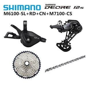 Image 5 - シマノdeore xt M8100 M7100 M6100 M9100 12sグループセットmtbマウンテンバイクsl + rd + cs + hg m8100シフターリアディレイラーチェーンカセット