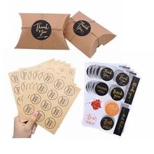Etiquetas adhesivas redondas de papel Kraft clásico, pegatinas de agradecimiento, etiquetas adhesivas de sellado, pegatinas de regalo hechas a mano DIY, adhesivo de papelería