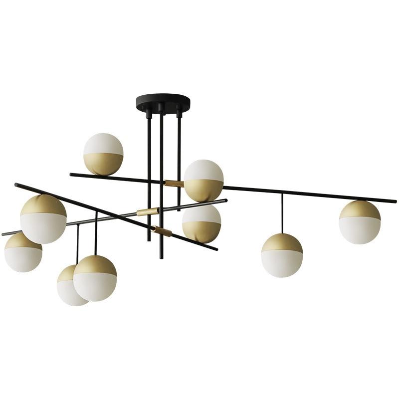 Moderno e minimalista ristorante bar multi testa molecolare rotante lampade a sospensione Nordic camera da letto comodino luci del pendente del metallo