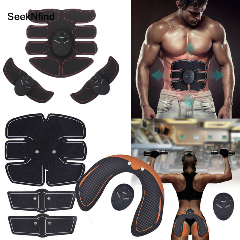EMS Wireless Muscle Stimulator Trainer Hip Trainer Smart Fitness Abdominal Training Electric Weight Loss Stickers Body Slimming