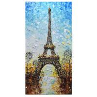 Hand Painted Tower 3D Paintings On Canvas Landscape Wall Art 100% Hand Painted Modern Large Artwork Vertical Oil Paintings