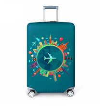 Luggage case cover suitcase  world map dust cover trolley case boot Apply To 18~32 inch thick wear-resistant Covers XYLOBHDG недорого
