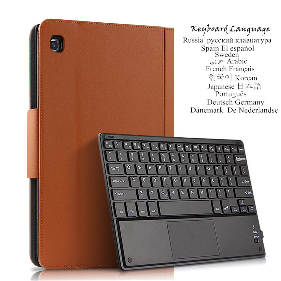 for Samsung Galaxy Tab S5e 10.5 2019 <font><b>Case</b></font> Wireless Keyboard PU Leather Cover for Samsung Tab S5e SM-<font><b>T720</b></font> T725 Multilingual image