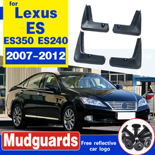 For Lexus ES ES350 ES240 2007-2012 Mudflaps Splash Guards Front Rear Mud Flap Mudguards Fender 2008 2009 2010 2011 Set Mud Flaps set for chevrolet silverdo 2007 2011 molded mud flaps mudflaps splash guards front rear mud flap mudguards fender yc101072