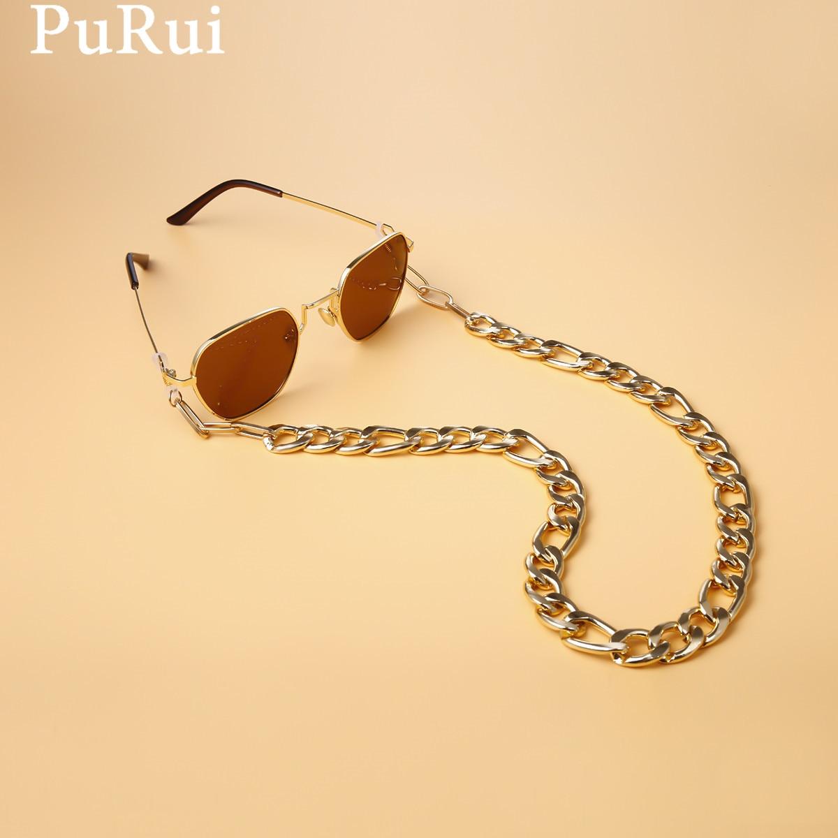 Цепочка для очков Purui, шнурок, держатель для очков, веревка, женский ремешок для солнцезащитных очков, аксессуары для очков, металлический шн...