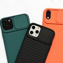 Чехол для телефона iphone 11 pro max x xs xr 8 7 6 6s plus скользящий