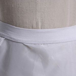 Image 3 - 3 layer Yarn 2 hoops Bride Wedding Dress Long Trailing Skirt Petticoat Elastic Waist Drawstring Adjustable Fishtail Slip Skirts