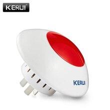 KERUI Flash estroboscópico inalámbrico, alarma inalámbrica de sirena óptica, sonido J009, 110dB, para sistema de alarma G19 G19 8218G W2 W1