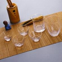 Натуральный Детокс zhi li Прямая поставка чай в японском стиле набор чашка стеклянная-Золотая фольга мастер сливовый кувшин прозрачный кристалл охлаждения Cu