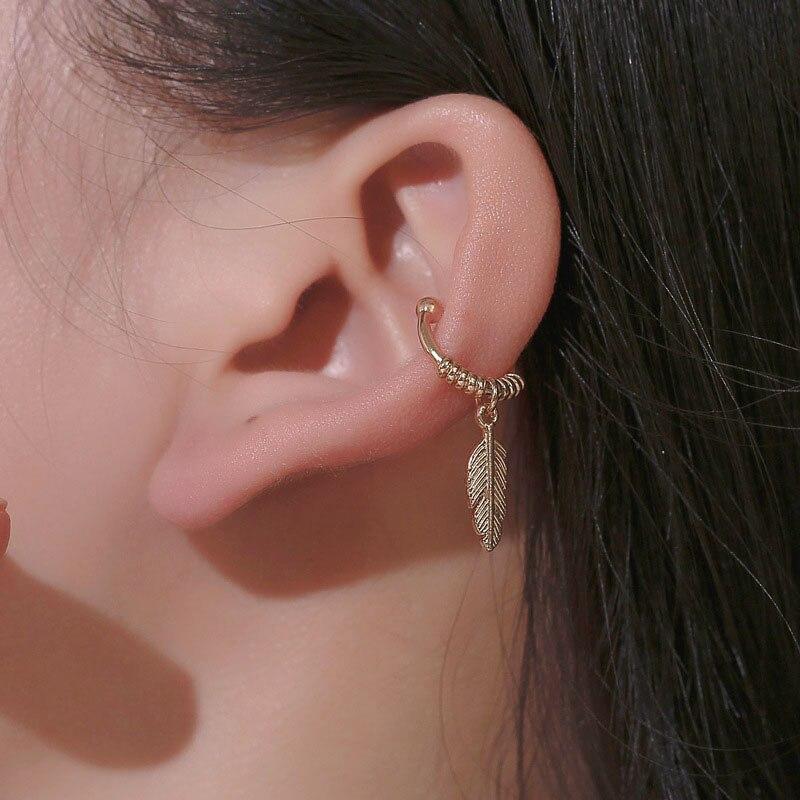 2019 Fashion Ear Cuffs Gold Leaf Ear Cuff Clip Earrings For Women