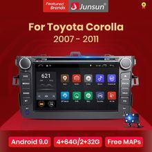 Junsun 2G + 32G Android 9.0 dla Toyota Corolla 2007 2008 2009 2010 2011 Radio samochodowe multimedialny odtwarzacz wideo nawigacja GPS 2 din dvd