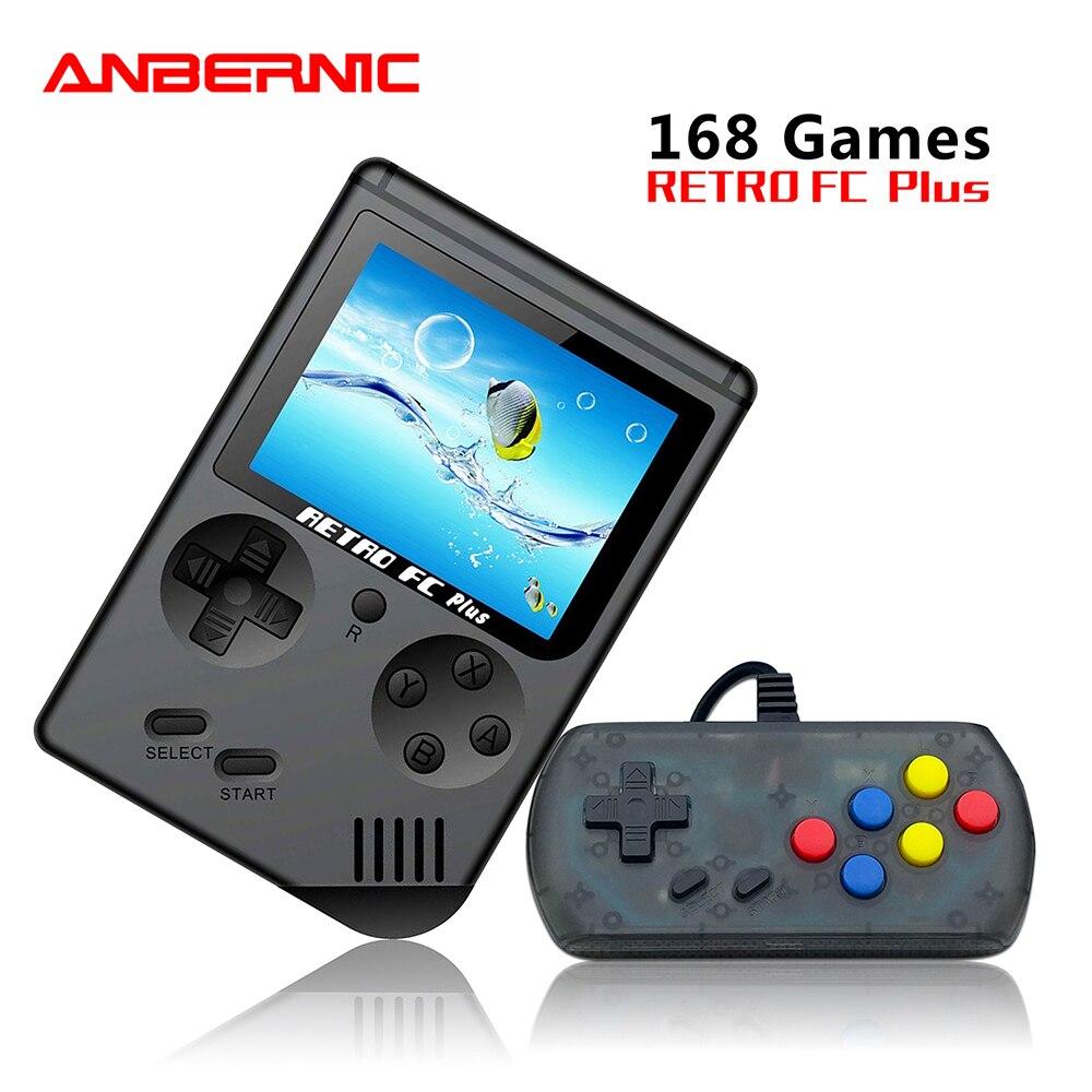 Retro fc 168 em 1 jogos de vídeo console vs bittboy pocketgo consola jogo retro mini jogadores de mão 8 bit clássico gamepad