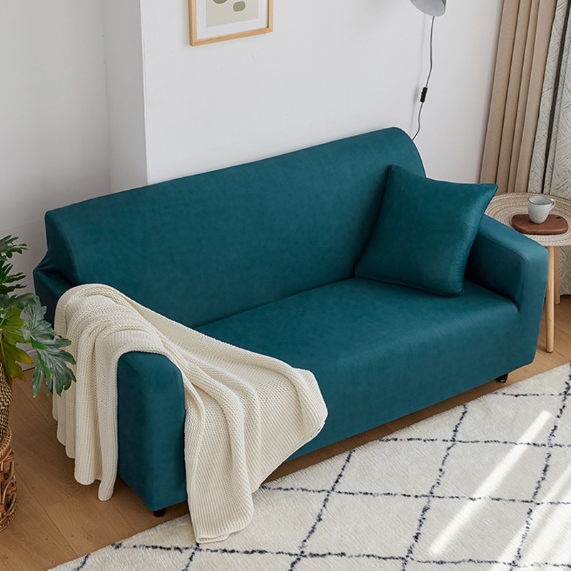 Sofa Cover Solid Color Elastic Spandex Modern Polyester Corner Sofa Couch Slipcover Chair Protector Living Room