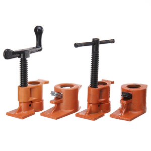 Image 5 - 3/4 Inch Heavy Duty Pipe Clamp for Woodworking Wood Gluing Pipe Clamp Steel Cast Iron Pipe Clamp Fixture Carpenter Hand Tool