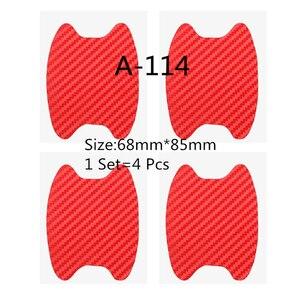 Image 5 - 1Set=4Pcs Door handle carbon fiber protective film, scratch cover paste, car exterior protection paste