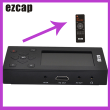 """Ezcap Audio Video Capture Converter Recorder VHS / Camcorder Tapes to Digital 8GB Memory 3"""" Screen for VCR DVD Game Console"""