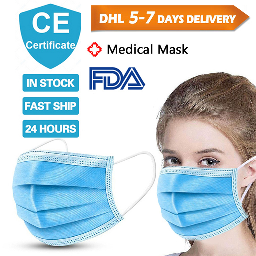 Medical Masks Disposable Face Mask Non-woven 3 Layers Masks Safe Breathable Face Mouth Kids Adult Ear Loop Filter Masks