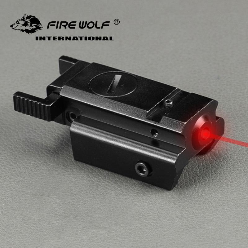 Tactische 532nm red dot laser zicht erfüllt Picatinny weber-schiene 22mm beugel voor Glock 17 19 20 21 22 23 30 31 32 Sd laser