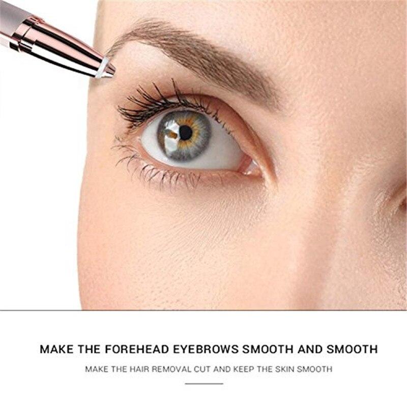 1pc Electric Facial Hair Remover Razor Depilator Defeatherer Bikini Face Neck Hair Removal Tool Trimmer Brows Eyeflash No Box