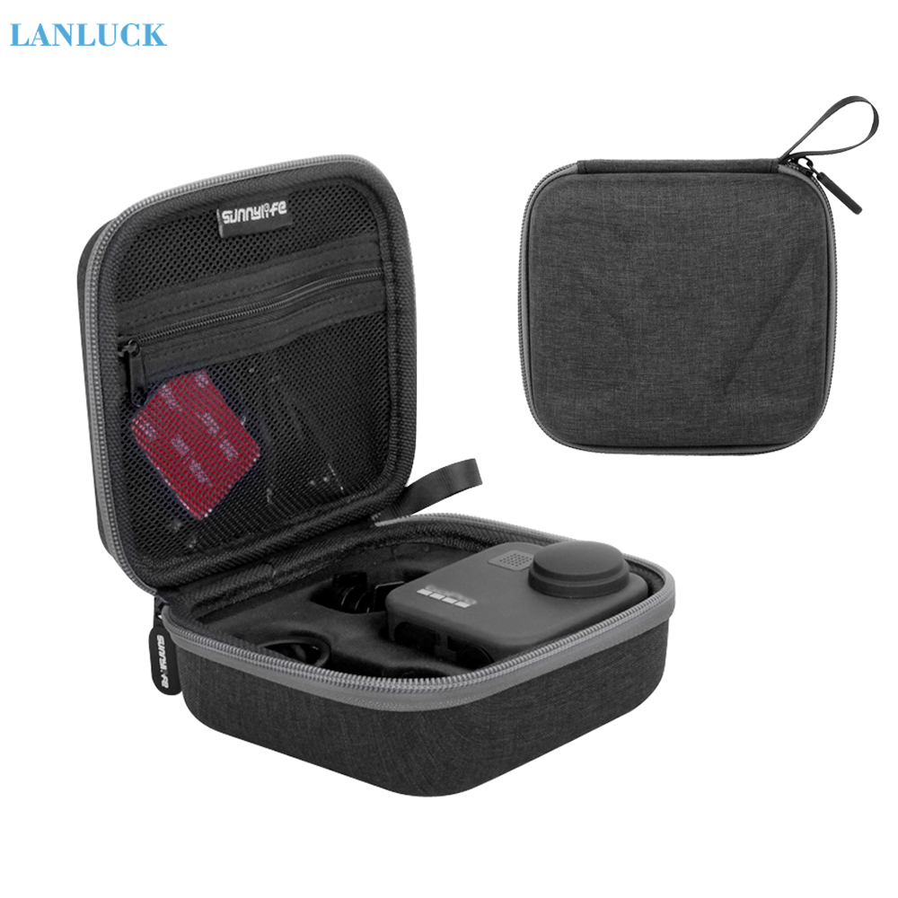 Sunnylife Portable Carrying Case Storage Bag For GoPro MAX Camera Handbag Protective Lens Package Box Screen Film Accessories