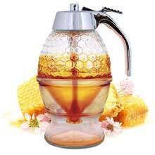 Honey Dispenser Syrup Pot Press Type Sugar Container Jar Breakfast Kitchen Tool 2020(China)
