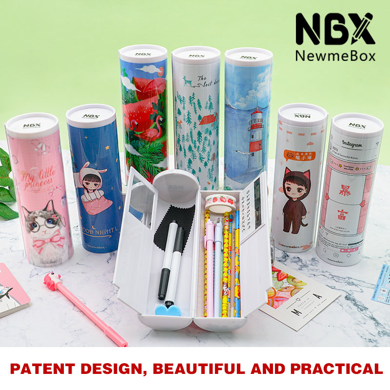 NBX Pencil Case Big Capacity Pencil Box Makeup Pen Pouch Durable Student Stationery With Double-Deck Pen Holder Of School Office