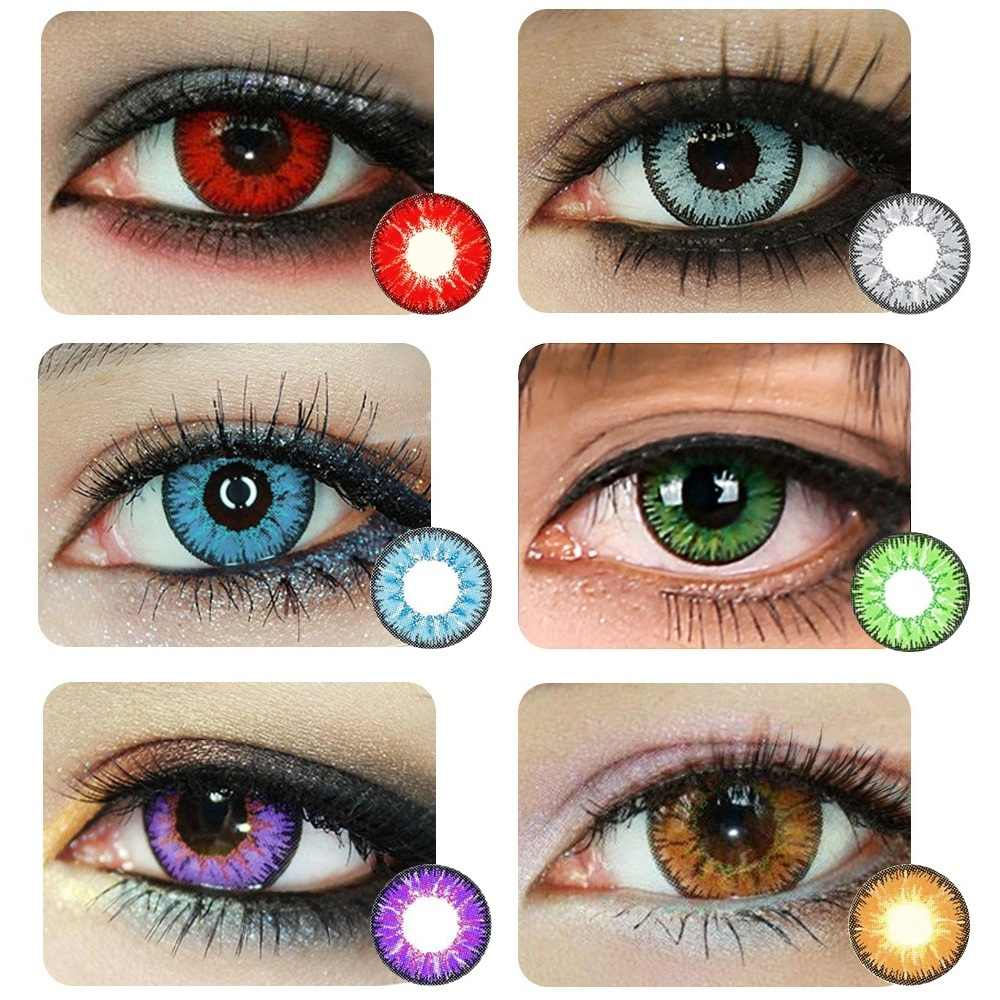 Illucon 2pcs Pair Color Contact Lenses For Eyes Halloween Crazy Colored Cosplay Soft Contacts Lens Vega Series Aliexpress