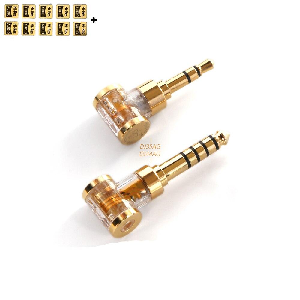 DD ddHiFi DJ35AG/ DJ44AG 2,5 мм сбалансированный Женский до 4,4 мм/3,5 мм Мужская гарнитура разъем адаптера, аудио конвертер для наушников/DAP