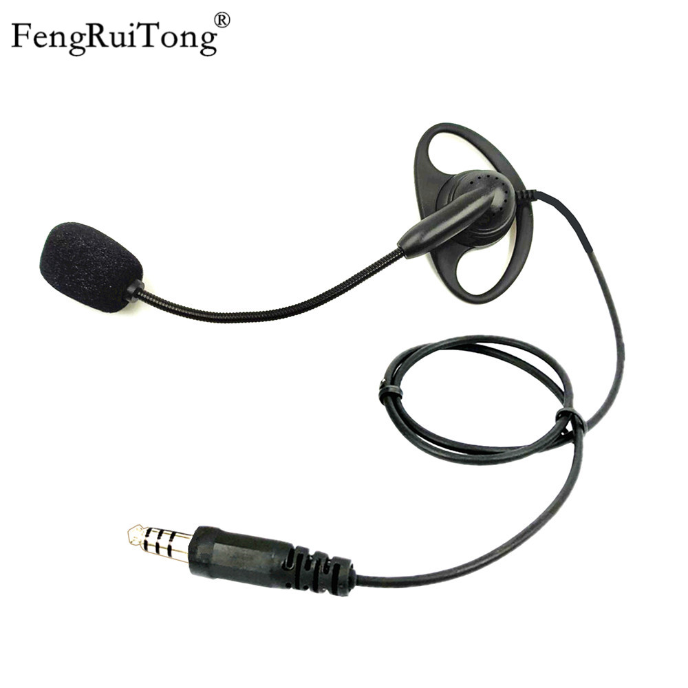 FengRuiTong D-type Tactical Headset, Adjustable Microphone Stick NATO Plug For Z-TAC PELTOR U94 PTT For BAOFENG MOTOROLA YAESU K