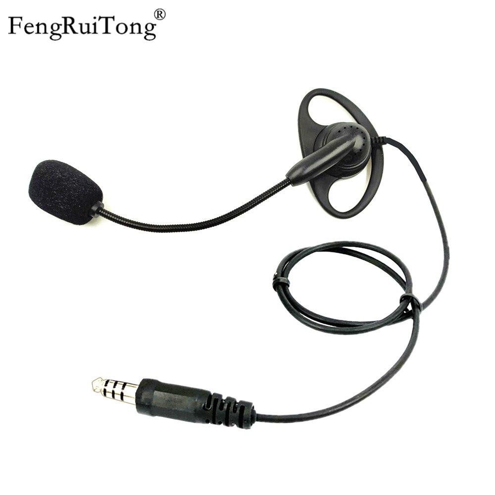 FengRuiTong D-type Tactical Headset, Adjustable Microphone Stick NATO Plug For Z-TAC PELTOR U94 PTT For BAOFENG MOTOROLA YAESU K