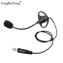 FengRuiTong D-type tactical headset, adjustable microphone stick NATO Plug for Z-TAC PELTOR U94 PTT BAOFENG MOTOROLA YAESU K