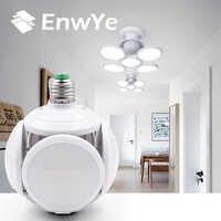 EnwYe Super brillante LED Bombilla plegable E27 40W LED luz fútbol UFO lámpara AC 85-265V LED Bombilla Navidad regalos para niños vacaciones