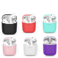 Air pods Silicone Bluetooth Wireless Earphone Case For AirPods Protective Cover Skin Accessories for Apple Airpods Charging Box for apple air pods charging box protective cover luxury crocodile pattern leather bluetooth wireless earphone case for airpods