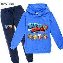 Super zings meninos meninas crianças agasalho outono dos desenhos animados hoodie lazer crianças meninos roupas de inverno conjunto presente para meninas roupas