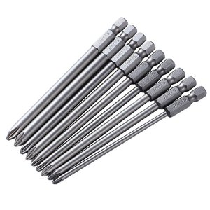9pc PH2 Magnetic Screwdriver Bit S2 Steel 100mm Long For Electric Screw Driver