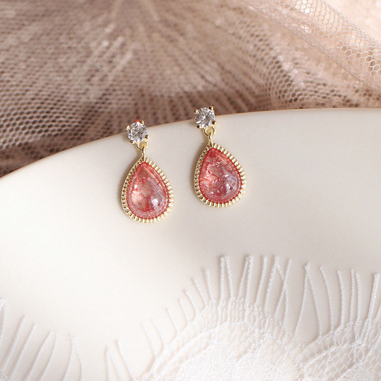 Купить с кэшбэком South Korea's New Pink Fashion Earrings Temperament Small Earlobe Suitable For Personality Women Wear