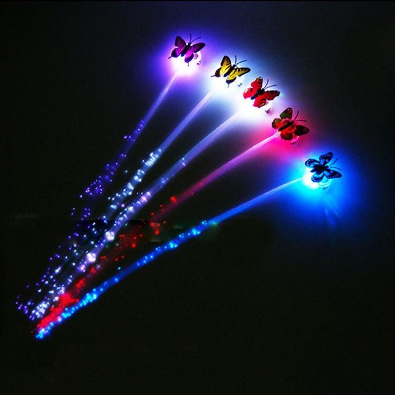 1Pcs Coloful Gradient LED Light-emitting Braid Hairpin Flash Braid Hair Ornament Girls Led Toys Hot Sell 2020