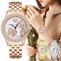Weibliche Luxuriöse Diamant 3d Schmetterling Quarz Armbanduhren Uhren Frauen Mode Uhr 2021 Armband Pagani Design Uhr Reloj