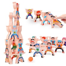 16 Pcs/set Multiplayer Cartoon Hercules Building Blocks Parent-child Interactive Toy Stacking High Game Balance Plastic Blocks