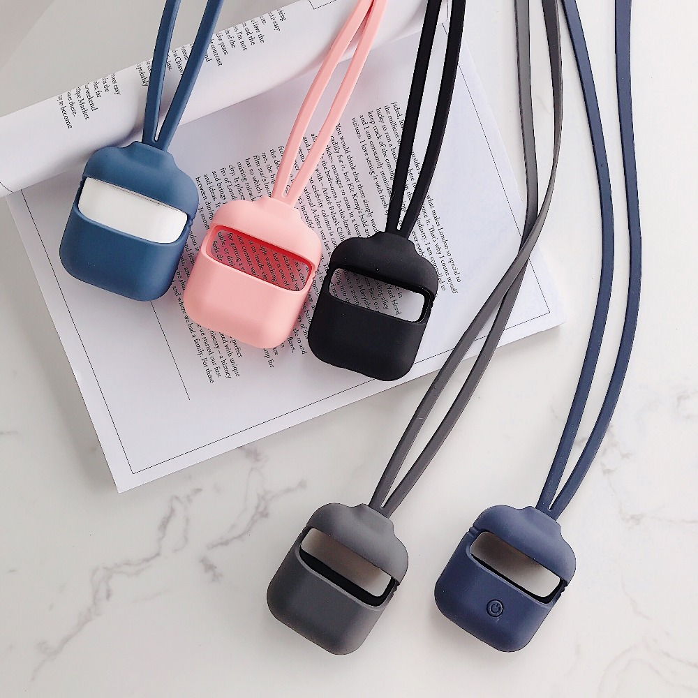 For AirPods Case <font><b>Air</b></font> <font><b>pods</b></font> Pro with Anti-lost rope run sport silicone Cover For AirPods i12 i30 i8x <font><b>i9s</b></font> i11 <font><b>Tws</b></font> Earphone Case image