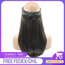 HiArt 100г расширения гало волос у человека рыба линия волос Remy нарисованные двойником шиньоны флип в наращивание волос прямые волосы