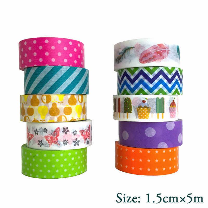 1 Pcs Multi Warna Washi Tape Scrapbooking Dekoratif Pita Perekat Kertas Jepang Alat Tulis Stoffice Tape Perekat