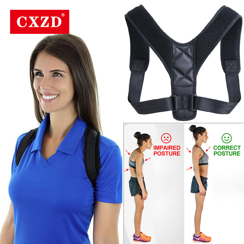 CXZD Regolabile delle donne Torna Correzione Postura Clavicola Posteriore Spalla Brace Correzione della Postura Cintura di Sostegno Lombare Della Colonna Vertebrale