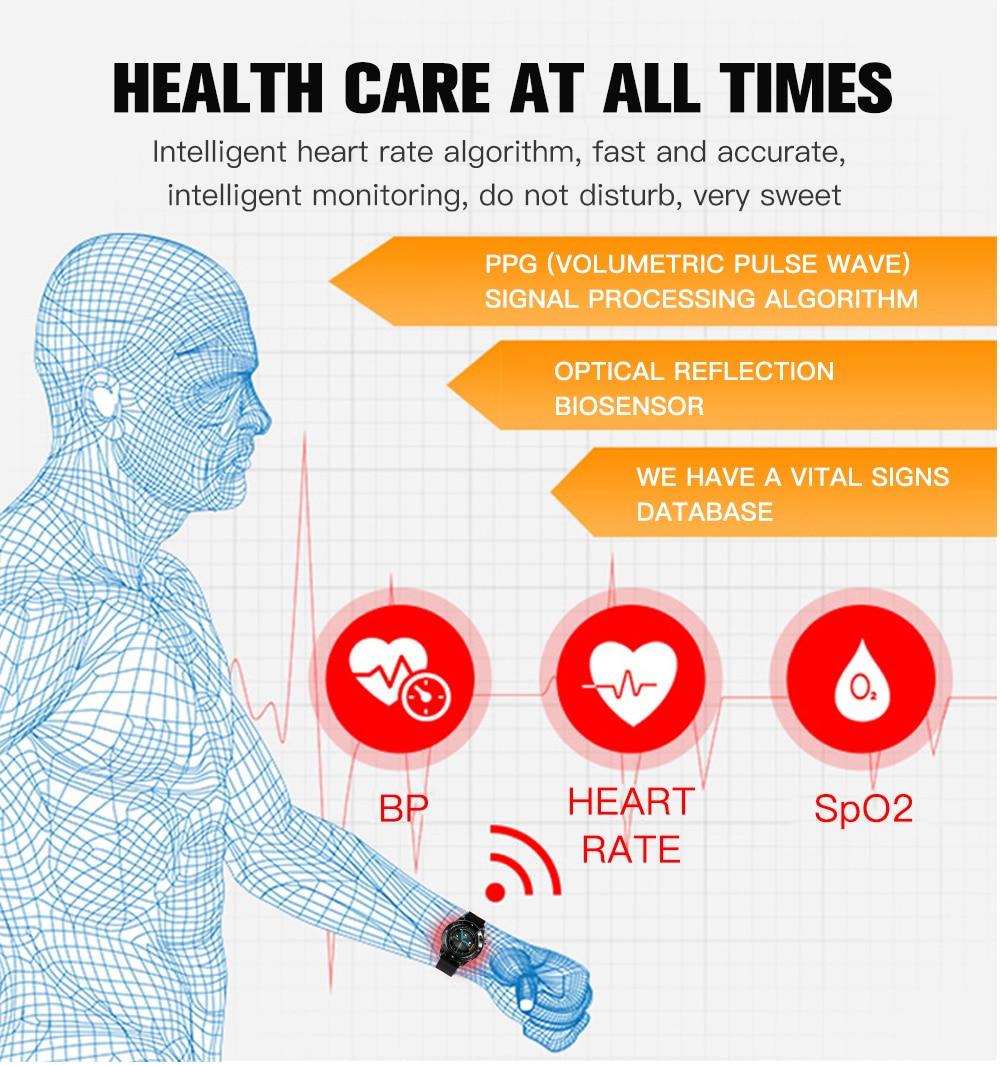 Czjw f22s esporte relógios inteligentes para o homem mulher 2020 inteligente smartwatch rastreador de fitness pulseira pressão arterial para android ios 4
